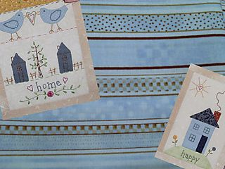 Blue happy home