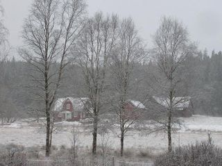 Gudrun's house in winter