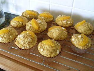 Healthy orange poppy seed muffins