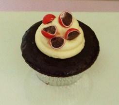 Choc jaffa cupcake