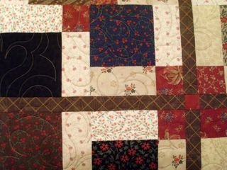 9 patch quilting feathers