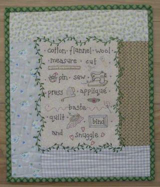 Stitchers angel mini quilt