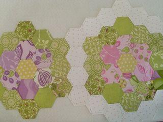 Hexy garden quilt