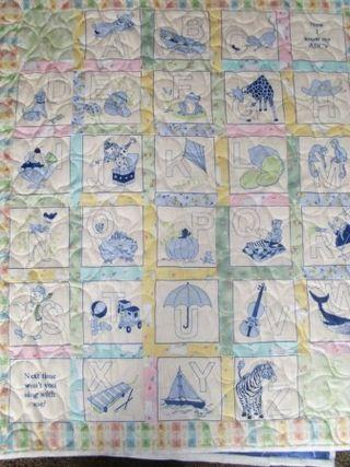 FH Blue alphabet flannel