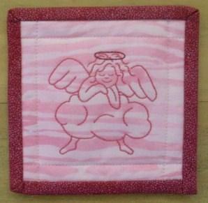 Stitcher's angel mug mat
