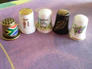 My Vast Thimble Collection