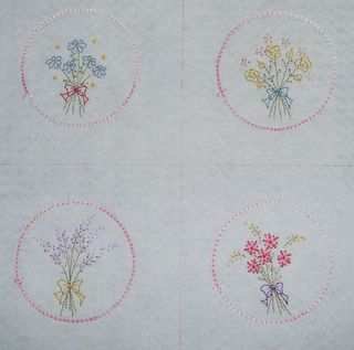 Set of four posies