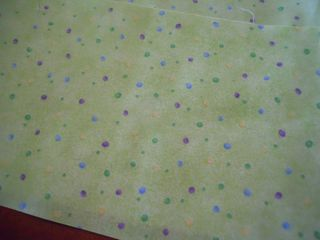Audition fabric for the sashing