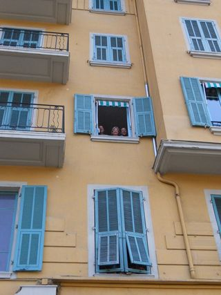 Looking out of our kitchen window in Nice