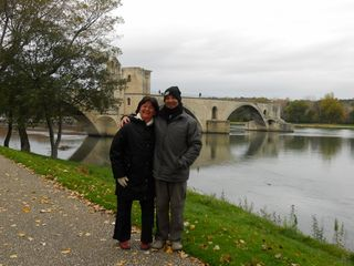 Us by the river in avignon