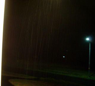 Night time raindrops