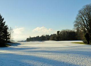 Snow at Ashford Castle