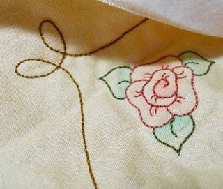 Vintage hearts roses