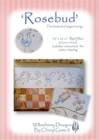 Rosebud pattern cover
